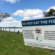 PFAS Do Not Eat the Fish Sign at Baseline Lake