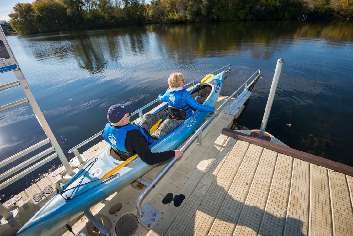 Accessible Kayak Launch at Gallup Canoe Livery, Ann Arbor